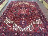 Ebay 9×12 oriental Rugs Sale Great Hand Knotted Persian Tabriz Heriz Rug Geometric Carpet
