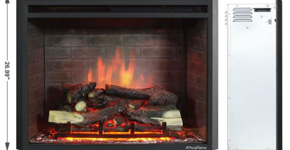 Electric Log Inserts for Existing Fireplaces Puraflame 33 Inch Western Electric Fireplace Insert with Remote