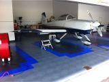 Elite Garage Floors Race Deck Diamond Pattern Used for Airplane Hanger Flooring Heavy