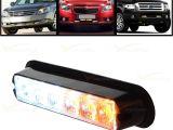 Emergency Vehicle Interior Light Bars White Amber 6 Led Warning Beacon Emergency Car Truck Strobe Flash