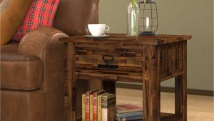 End Tables Sets for Living Room Loon Peak Archstone End Table with Storage & Reviews