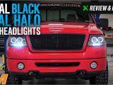 F150 Halo Lights 2004 2008 F 150 Axial Black Dual Halo Led Projector Headlights