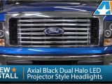 F150 Halo Lights 2009 2014 ford F 150 Axial Black Dual Halo Led Projector Style