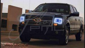 F150 Halo Lights oracle 09 14 ford F150 W O Pro Led Halo Rings Headlights Bulbs