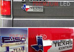 F250 Light Up Emblems 1 Chrome Finish 3d Texas Edition Emblem Badges for ford F 150 F 250