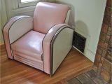 Fainting Chair Band Reserved for Novawagon1964 Vintage Jazz Art Deco Club Chair American