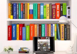 Fake Decorative Books For Sale Removable Diy 3d Wall Sticker Creative Bookshelf Book Wallpaper