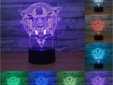 Fancy Light Switches 2018 3d Led Color Night Ligh Changing Lamp Punisher Skull Multi
