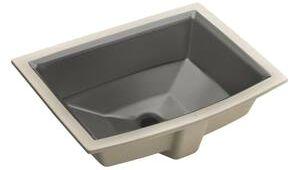 Ferguson Kohler Bathroom Sink Kohler Archer Undermount Lavatory Sink In Thunder Grey