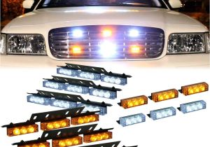 Firefighter Interior Light Bars Amazon Com Dt Motoa Amber White 54x Led Emergency Vehicle Deck Dash