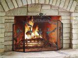 Fireplace Accessories Stores Near Me the Halloween Fireplace Screen Hammacher Schlemmer Mid Summer