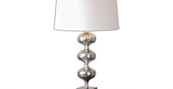 Flambeau Table Lamps Uttermost Cloelia Polished Silver Table Lamp Ut26185