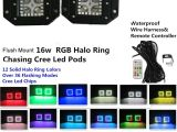 Flashing Lights when Phone Rings Amazon Com Night Break Light 16w Cree Flush Mount Led Pods Spot