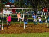 Flexible Flyer Backyard Swingin Fun Metal Swing Set Amazon Com Flexible Flyer Fun Fantastic Ii Swing Set Sports Outdoors