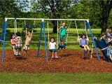 Flexible Flyer Backyard Swingin Fun Metal Swing Set Amazon Com Flexible Flyer Play Around Swing Set Trapeze Slide