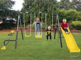 Flexible Flyer Backyard Swingin Fun Metal Swing Set Amazon Com Xdp Recreation All Star Playground Swing Set Swingin
