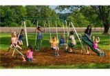 Flexible Flyer Backyard Swingin Fun Metal Swing Set Backyard Swingin Fun Metal Swing Set Vinyl Covered Swing Chains