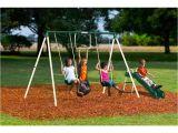 Flexible Flyer Backyard Swingin Fun Metal Swing Set Flexible Flyer Swing Keni Ganamas Co