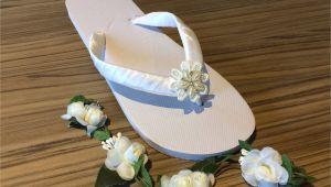 Flip Flop Decorating Ideas for Wedding Bridal Flip Flops Sandals Beach Wedding Boho Wedding Flower Flip