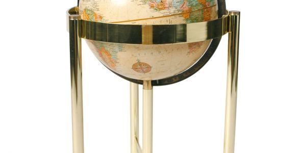 Floor Globe with Brass Stand Decorative Brass Stand Floor Globe Floor Globe Globe and Modern