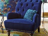 Flynn Navy Blue Accent Chair Blue Velvet Tufted Arm Chair Navy Royal Accent Steampunk