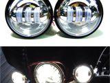 Fog Lights for Trucks 4 1 2 Chrome Led Auxiliary Spot Fog Passing Light Lamp Bulb