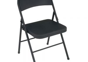 Folding Chairs at Home Depot Cosco Black All Steel Folding Chairs 4 Pack 1471105xe the Home Depot