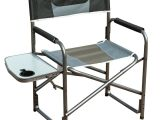 Folding Tall Directors Chair with Side Table Timber Ridge Aluminum Portable Director S Folding Chair with Side