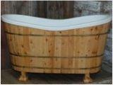 Foot Bathtub Wood Wooden Bathtubs