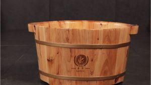 Foot Bathtub Wood Wooden Foot soaking Basin Foot Spa Bucket Massage Bath Tub