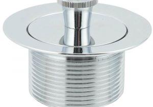 Foot Lock Bathtub Drain Stopper Chrome Plated Brass Foot Lock Tub Drain Stopper