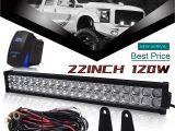 Ford F250 Light Bar Amazon Com Dot 22 24inch 120w Led Light Bar Combo Grill Windshield