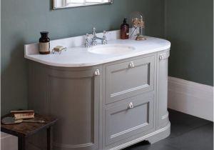 Freestanding Bathroom Vanity Units Burlington Olive 1340mm Curved Freestanding Vanity Unit