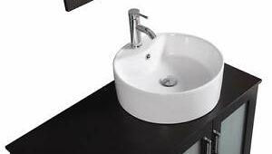 Freestanding Bathroom Vanity with Vessel Sink 40 Inch Belvedere Modern Espresso Freestanding Bathroom