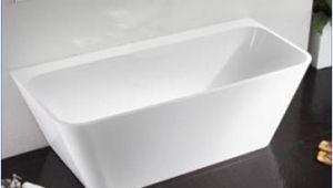 Freestanding Bathtub 1400 Dee Back to Wall Free Standing Bath 1400 X 740 X 580