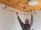 Freestanding Bathtub Curtain Rod Diy Copper Shower Curtain Rod