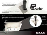 Freestanding Bathtub Drain Installation Maax F2 Drain Abs Kit for Freestanding Bathtub