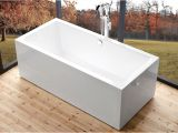 Freestanding Bathtub End Drain Wide 60 Inch Freestanding Bathtub Rectangular