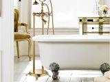 Freestanding Bathtub Faucet Gold Brass Chrome Gold Rose Gold Brass Dual Handle Bathroom
