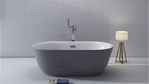 """Freestanding Bathtub Grey 1001now Lamone 67"""" Grey Seamless Freestanding Acrylic"""