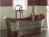 """Freestanding Bathtub Pros and Cons Signature Hardware 68"""" Constantine Mosaic Copper Double"""