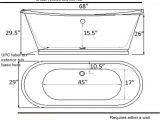 Freestanding Bathtub Width Bathroom Choose Your Best Standard Bathtub Size and Type