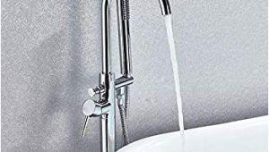 Freestanding Tub Faucet with Sprayer Senlesen Single Handle Modern Freestanding Bathtub Shower