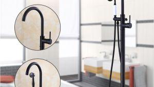 Freestanding Tub Faucets Black Modern Free Standing Bathtub Faucet Tub Filler Fashion