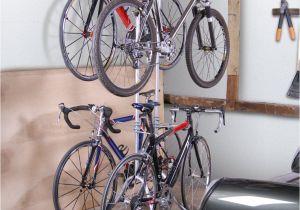 Freestanding Vertical Bike Rack for Apartment Four Bike Freestandingrack Free Standing Racks and Shelves