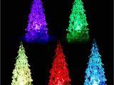 Frozen Christmas Light Show Colorful Crystal Acrylic Christmas Tree Led Night Light Changing
