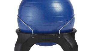 Gaiam Classic Balance Ball Chair – Charcoal Amazon Com Gaiam Classic Backless Balance Ball Chair Exercise