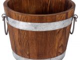 Galvanized Bathtub for Sale Buy the Large Wooden Bucket with Galvanized Belt by ashlanda at Michaels