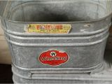 Galvanized Bathtubs for Sale Double Galvanized Wash Tubs for Sale at 1stdibs