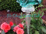 Garden Art From Old Dishes Glass Garden Art Yard Art Glass Bird Bath Www theglassygardengal